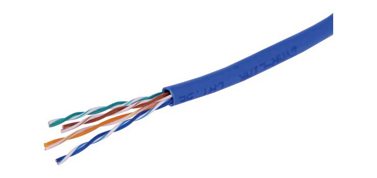 W2759 Blue Cat5e UTP Ethernet Data Cable