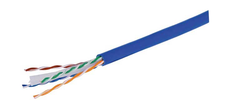 W2766 Blue Cat6 UTP Ethernet Data Cable