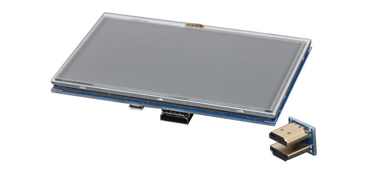 "Z6513 5"" LCD 800 x 480 HDMI Touchscreen For Raspberry Pi"