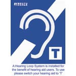 A4209 Hearing Induction Loop Installed Label Pk5
