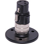 C0431 Black desk Mount XLR Microphone Socket