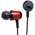 C9011 Dynalink Wood Finish In-Ear Bud Headphones