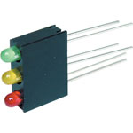 H1581 3mm 3 Way Vertical LED Mounts Pk 100