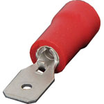H1852A Red 4.8mm Male Spade Crimp Pk 100