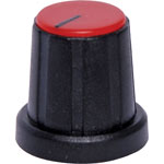 H6020 18mm Red Cap D Shaft Plastic Knob