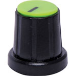 H6028 18mm Green Cap D Shaft Plastic Knob