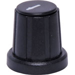 H6030 18mm Black Cap D Shaft Plastic Knob
