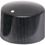 H6516 23mm  18T Spline Black PVC Knob