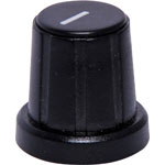 H6530 18mm Black 18T Spline Plastic Knob