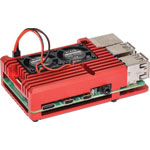 H8959 Red Dual Fan Armour Case To Suit Raspberry Pi 4