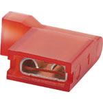 HR2002B Red 6.3mm Female Right Angle Spade Crimp Pk 100