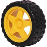 J0101 Plastic Wheel With Rubber Tyre For 5mm Shaft (J 0016)