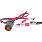 M8095 Croc Clip To Cigarette Lighter Plug Lead