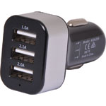 M8628A 5.1A 5V DC Triple USB Car Charger