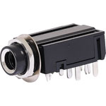 P0076A 6.35mm Insulated DPDT PCB Stereo Jack Socket