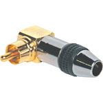 P0117 Black Aluminium RCA 90 Deg Connector