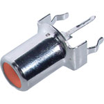 P0132 Red PCB Mount Vertical RCA Socket