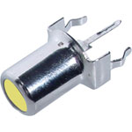 P0133 Yellow PCB Mount Vertical RCA Socket