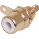 P0151 White RCA Socket Chassis Gold