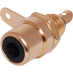 P0153 Black RCA Socket Chassis Gold