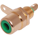 P0156 Green RCA Socket Chassis Gold