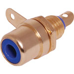 P0157 Blue RCA Socket Chassis Gold