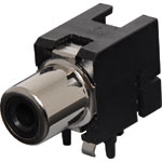 P0208C Black PCB Mount RCA Socket