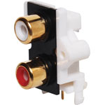 P0212 2 Way PCB Mount Gold RCA Socket