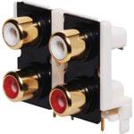 P0214 4 Way PCB Mount Gold RCA Socket