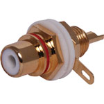 P0218 Red Chassis Insulated Gold Chassis RCA Socket