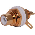 P0220 Black Chassis Insulated Gold Chassis RCA Socket