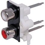 P0221 2 Way PCB Mount Vertical RCA Socket