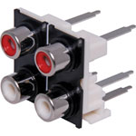 P0222 4 Way PCB Mount Vertical RCA Socket