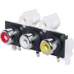 P0224 3 Way PCB Mount RCA Socket