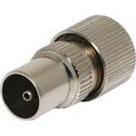 P0226B Screw On RG6 Metal Male Plug PAL 75 Ohm