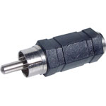 P0369 RCA Male to 3.5mm Mono Female Adapter