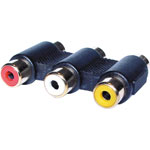P0382 3 RCA Socket to 3 RCA Socket Adapter