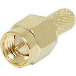 P0422A Crimp On RG58U Gold Plated Male Plug SMA