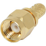 P0438 Crimp On RG58U Gold Plated Female Socket Reverse SMA