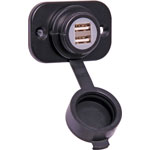 P0668 Dual USB Panel Mount Weatherproof Charging Socket