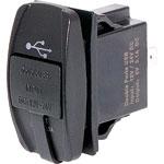 P0690 Dual USB Dashboard Mount Weatherproof 3.1A Charging Socket