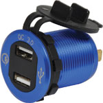 P0695 QC3.0 4.2A Dual USB Panel Mount Charging Socket