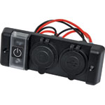 P0697 Dual USB and Car Accessory Flush Panel Mount