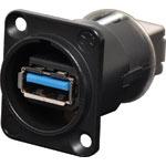 P0839 USB 3.0 Type A / Type B Chassis Black NAUSB-B