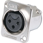 P0903 3 Pin Female Chassis Mount XLR AC3FDZ