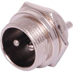 P0953 2 Pin Male Chassis Mount Microphone Connector