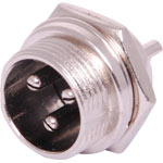 P0954 3 Pin Male Chassis Mount Microphone Connector