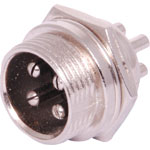 P0955 4 Pin Male Chassis Mount Microphone Connector