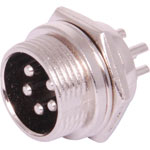 P0956 5 Pin Male Chassis Mount Microphone Connector