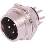 P0957 8 Pin Male Chassis Mount Microphone Connector